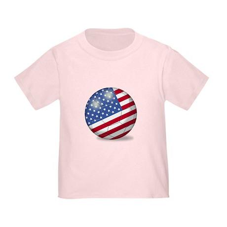 American Flag Soccer Ball (PP) Toddler T-Sh