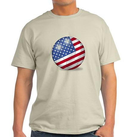 American Flag Soccer Ball (PP) Light T-Shirt