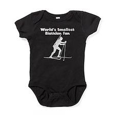 Worlds Smallest Biathlon Fan Baby Bodysuit
