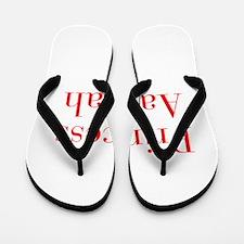 Princess Aaliyah-bod red Flip Flops