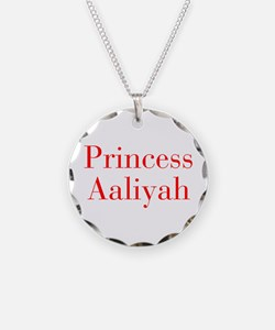Princess Aaliyah-bod red Necklace