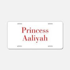 Princess Aaliyah-bod red Aluminum License Plate