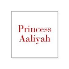 Princess Aaliyah-bod red Sticker