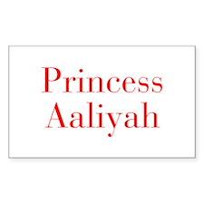 Princess Aaliyah-bod red Decal
