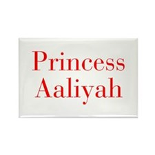 Princess Aaliyah-bod red Magnets