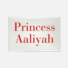 Princess Aaliyah-bod red Magnets