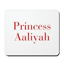 Princess Aaliyah-bod red Mousepad