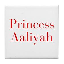 Princess Aaliyah-bod red Tile Coaster