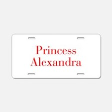 Princess Alexandra-bod red Aluminum License Plate