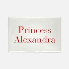 Princess Alexandra-bod red Magnets