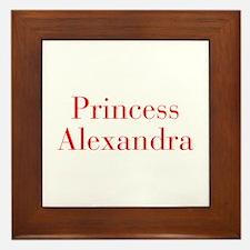 Princess Alexandra-bod red Framed Tile