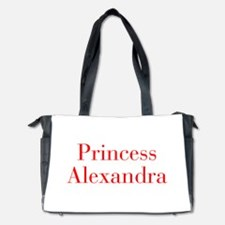 Princess Alexandra-bod red Diaper Bag