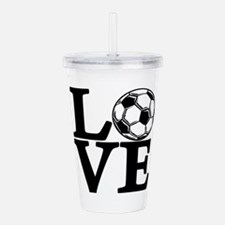 Soccer LOVE Acrylic Double-wall Tumbler