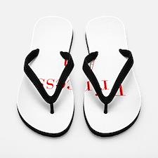 Princess Ava-bod red Flip Flops