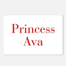 Princess Ava-bod red Postcards (Package of 8)