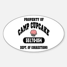 Property of Camp Cupcake Oval Decal