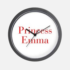 Princess Emma-bod red Wall Clock