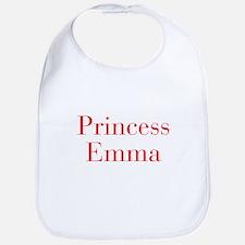 Princess Emma-bod red Bib