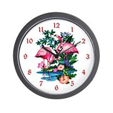 Wild Flamingos- Wall Clock