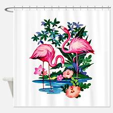 Wild Flamingos- Shower Curtain