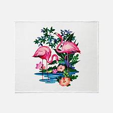 Wild Flamingos- Throw Blanket