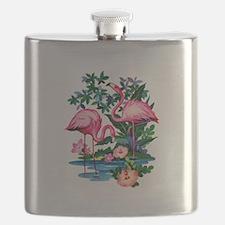 Wild Flamingos- Flask