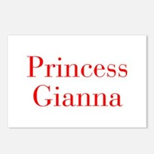 Princess Gianna-bod red Postcards (Package of 8)