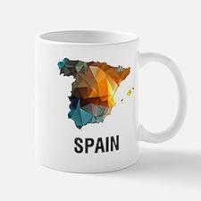 Polygon Mosaic Map of Spain Mugs