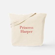 Princess Harper-bod red Tote Bag