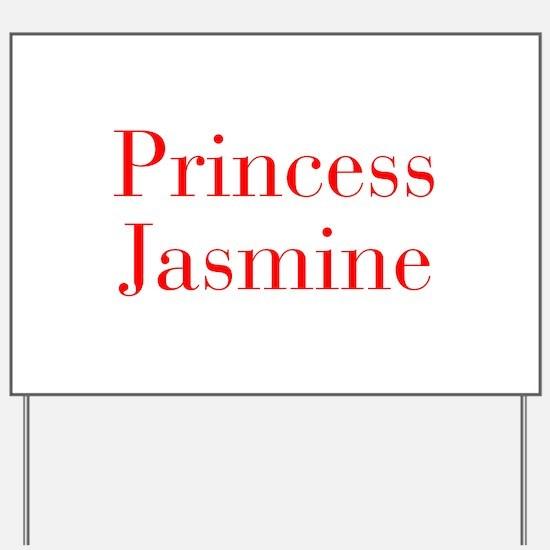 Princess Jasmine-bod red Yard Sign