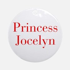 Princess Jocelyn-bod red Ornament (Round)