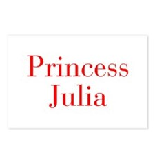 Princess Julia-bod red Postcards (Package of 8)