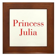 Princess Julia-bod red Framed Tile