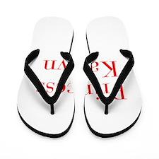 Princess Kaitlyn-bod red Flip Flops