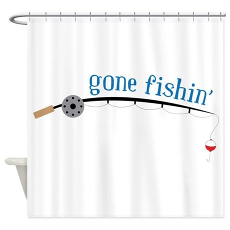 Gone Fishing Shower Curtain By Embroidery13