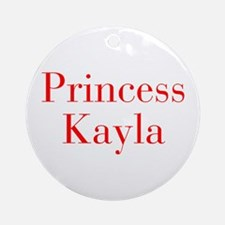 Princess Kayla-bod red Ornament (Round)