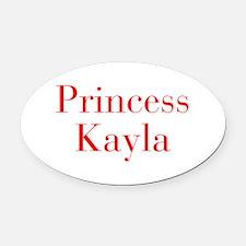 Princess Kayla-bod red Oval Car Magnet