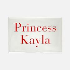 Princess Kayla-bod red Magnets