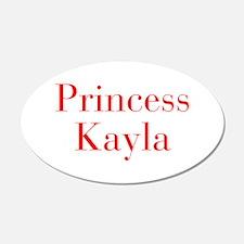 Princess Kayla-bod red Wall Decal