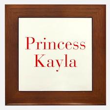 Princess Kayla-bod red Framed Tile
