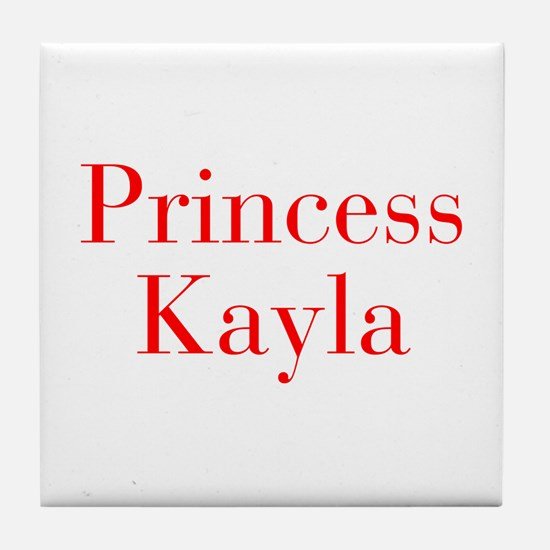 Princess Kayla-bod red Tile Coaster