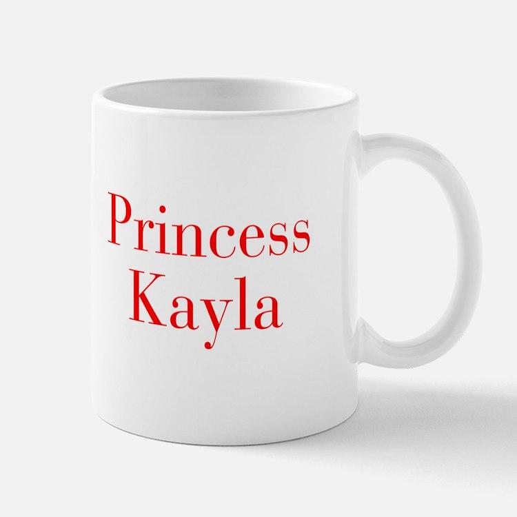 Princess Kayla-bod red Mugs