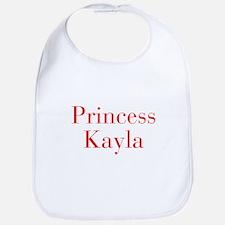 Princess Kayla-bod red Bib