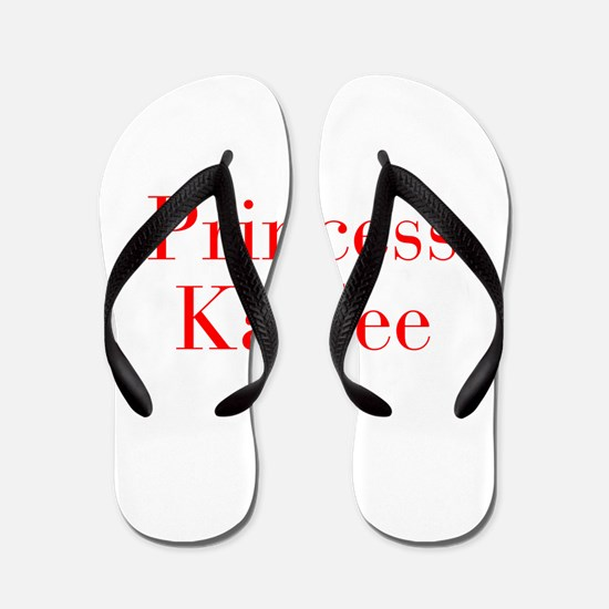 Princess Kaylee-bod red Flip Flops