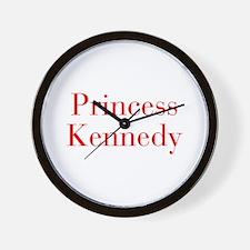 Princess Kennedy-bod red Wall Clock