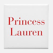 Princess Lauren-bod red Tile Coaster