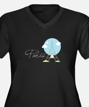 Paris Tower Plus Size T-Shirt
