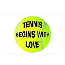 Tennis Begins With Love Postcards (Package of 8)
