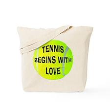 Tennis Begins With Love Tote Bag