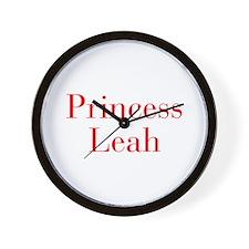 Princess Leah-bod red Wall Clock